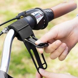Um suporte universal para smartphones para bicicletas, ideal para manter o seu telemóvel visível enquanto anda de bicicleta.