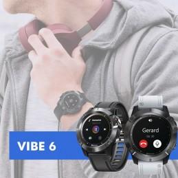 Smartwatch Vibe 6 GPS alia a elegância e o conforto com múltiplas funções. Esqueça o tempo em que o relógio indicava apenas a hora