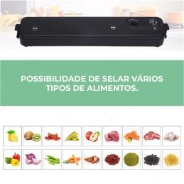 Desfrute de uma vida saudável com esta seladora que é perfeita para economizar espaço e dinheiro mantendo os alimentos frescos por mais tempo.