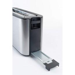 Uma torradeira com slot XL extra largo para que permita a utilização de todos os tipos de pães, incluindo torradas largas ou sanduíches.