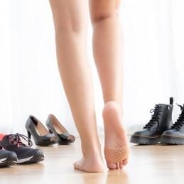 Eis 2 almofadas de gel de silicone suave que proporcionam relaxamento e conforto, previnem e aliviam a dor e a inflamação na zona Metatarsal dos pés.