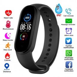 Bracelete Relógio M5 com Bluetooth à prova de água, tenha todas as funcionalidades do seu Smartphone - Android ou IPhone no seu pulso.