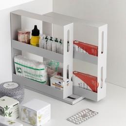Um original organizador de especiarias giratório e deslizante, ideal para manter os frascos de especiarias organizados e sempre à mão