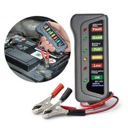 Um verificado digital de bateria para carro com um display led que o ajudará a ter sempre um diagnostico actualizado do estado da sua bateria.