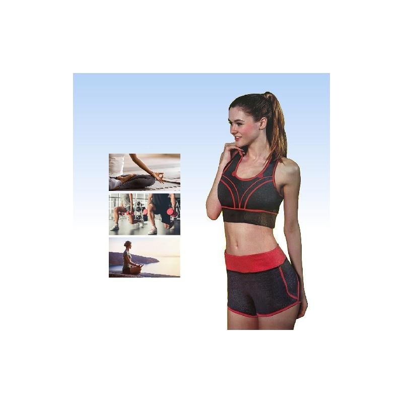 Um conjunto de roupa ideal para utilizar enquanto faz yoga, crossfit, musculação e outros exercícios de atividade física.